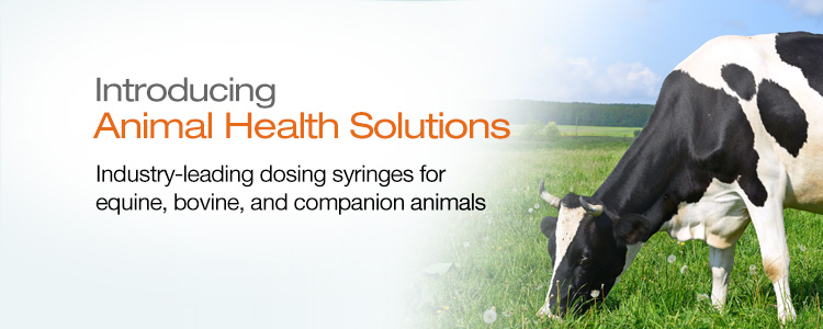 Animal Health Solutions:  Industry-leading dosing syringes for equine, bovine, and companion animals