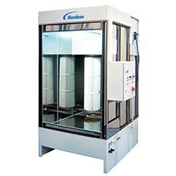 Micromax manual powder coating spray booths for Powder coating paint booth